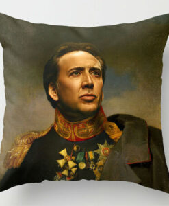 Nicolas-Cage-Replaceface-Old-Military-Uniform-Decorative-Customized-Plush-Pillowcases-Amazing-Pillow-Covers-Both-Sides-Printing